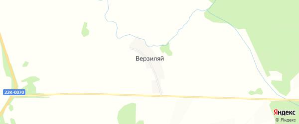 Карта деревни Верзиляя города Первомайска в Нижегородской области с улицами и номерами домов