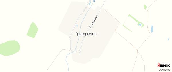 Карта деревни Григорьевки города Первомайска в Нижегородской области с улицами и номерами домов