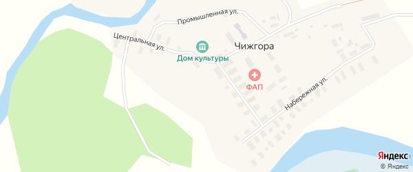Набережная улица на карте деревни Чижгоры с номерами домов