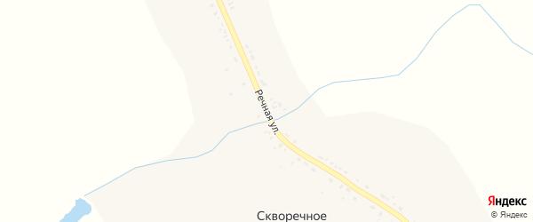 Речная улица на карте Скворечного села Пензенской области с номерами домов