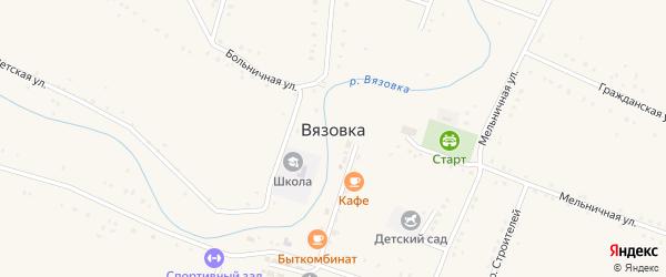 Шумная улица на карте села Вязовки Волгоградской области с номерами домов