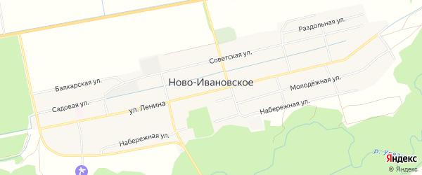 Карта Нова-Ивановского села в Кабардино-Балкарии с улицами и номерами домов