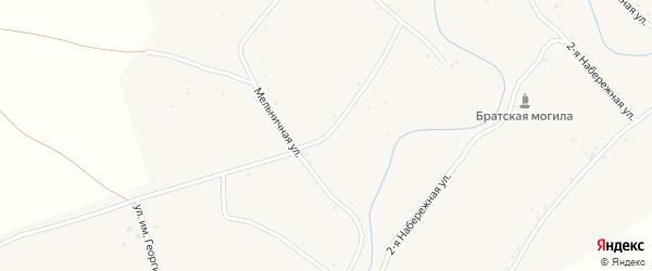 Мельничная улица на карте села Аксая Волгоградской области с номерами домов