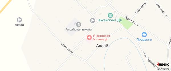 Октябрьская улица на карте села Аксая Волгоградской области с номерами домов