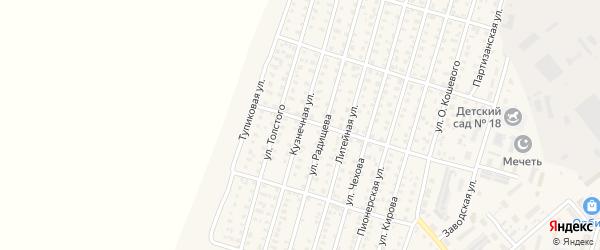 Кузнечная улица на карте Каменки с номерами домов