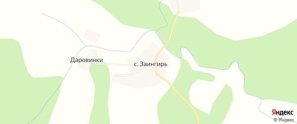Карта села Заингиря в Костромской области с улицами и номерами домов