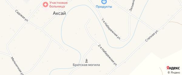 Островская улица на карте села Аксая Волгоградской области с номерами домов
