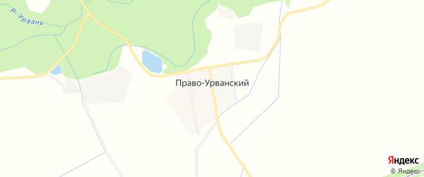 Карта Права-Урванского хутора в Кабардино-Балкарии с улицами и номерами домов