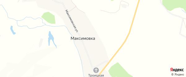 Карта села Максимовки в Пензенской области с улицами и номерами домов