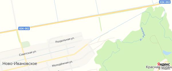 Карта садового некоммерческого товарищества Южанки в Кабардино-Балкарии с улицами и номерами домов