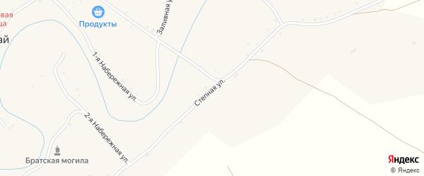 Степная улица на карте села Аксая Волгоградской области с номерами домов