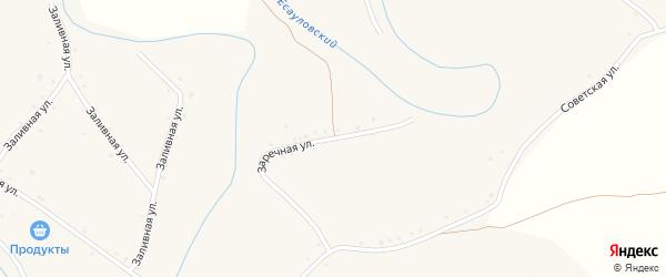 Заречная улица на карте села Аксая Волгоградской области с номерами домов
