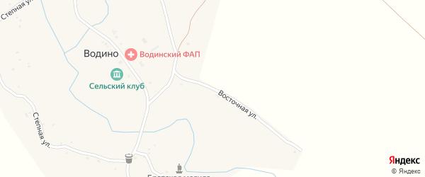 Восточная улица на карте села Водино Волгоградской области с номерами домов
