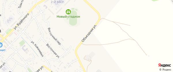 Объездная улица на карте поселка Иловли Волгоградской области с номерами домов