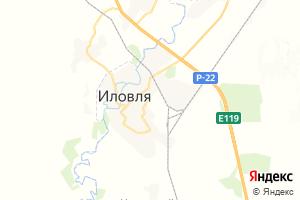 Карта пгт Иловля Волгоградская область