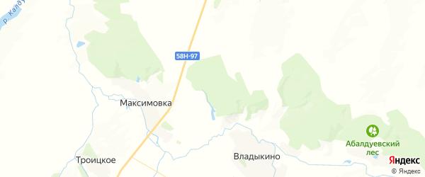 Карта Владыкинского сельсовета Пензенской области с районами, улицами и номерами домов