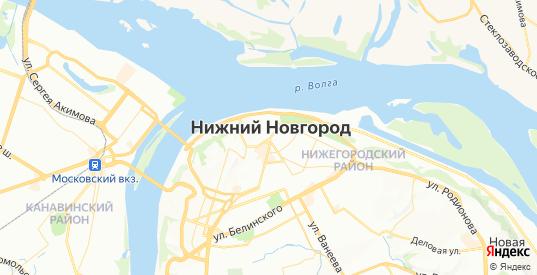 Карта Нижнего Новгорода с улицами и домами подробная - показать