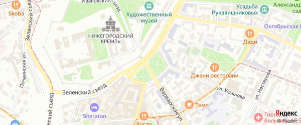 Территория Гаражный кооператив 17 на карте Нижнего Новгорода с номерами домов