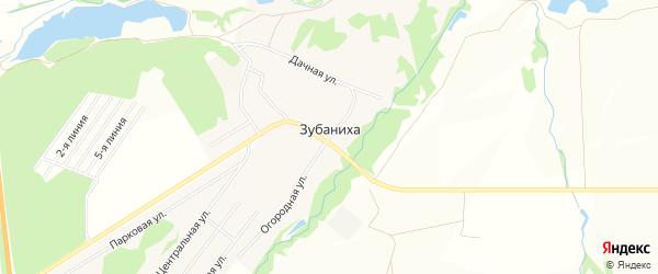 СНТ Факел на карте деревни Зубанихи Нижегородской области с номерами домов