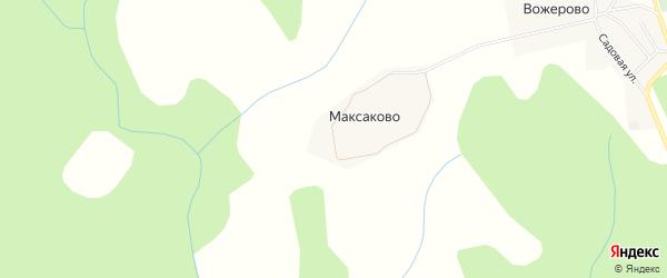 Карта деревни Максаково в Костромской области с улицами и номерами домов