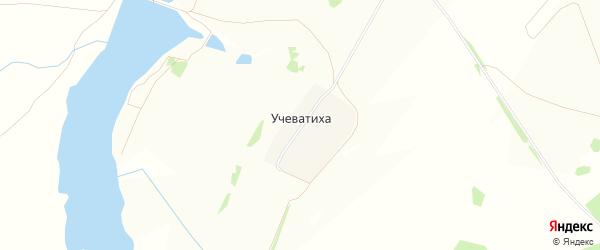 Карта деревни Учеватихи в Нижегородской области с улицами и номерами домов