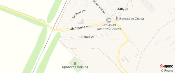 Новая улица на карте поселка Правды Саратовской области с номерами домов