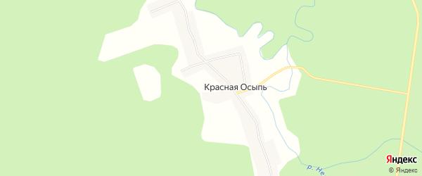 Карта поселка Красной Осыпи в Костромской области с улицами и номерами домов
