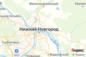 Карта г. Бор Нижегородская область