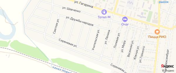 Эльбрусская улица на карте Майского с номерами домов