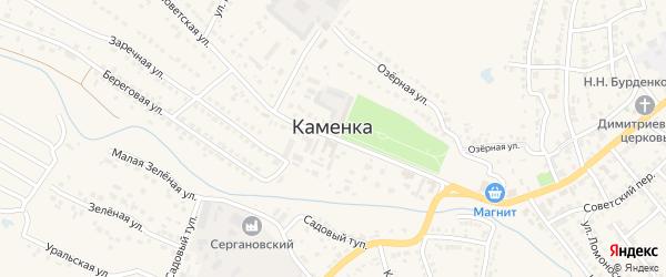 Полевая улица на карте Каменки с номерами домов