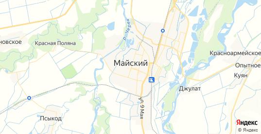 Карта Майского с улицами и домами подробная. Показать со спутника номера домов онлайн