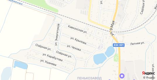Улица Крылова в Майском с номерами домов на карте. Спутник и схема онлайн