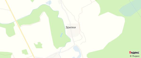 Карта деревни Зрилки (Линдовский с/с) города Бора в Нижегородской области с улицами и номерами домов