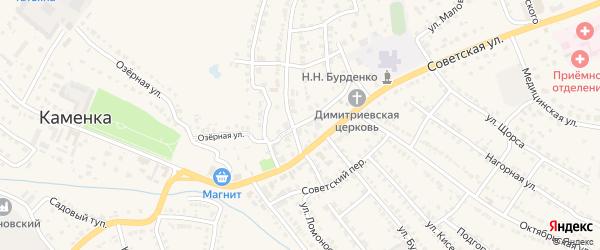 Кооперативная улица на карте Каменки с номерами домов