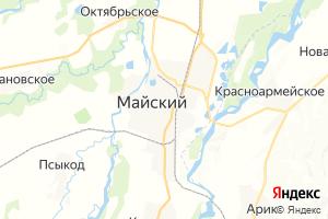 Карта г. Майский Кабардино-Балкарская Республика