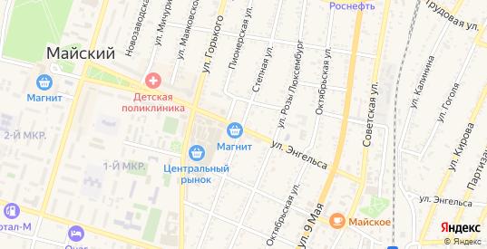 Степная улица в Майском с номерами домов на карте. Спутник и схема онлайн
