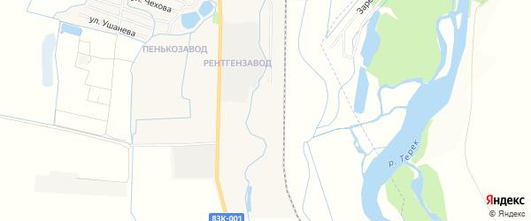Карта садового некоммерческого товарищества Майчанки в Кабардино-Балкарии с улицами и номерами домов