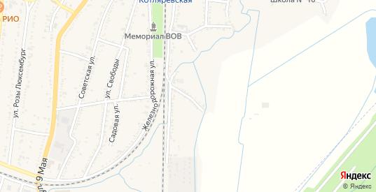 Восточный переулок в Майском с номерами домов на карте. Спутник и схема онлайн