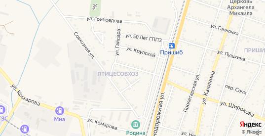 Улица Гайдара в Майском с номерами домов на карте. Спутник и схема онлайн