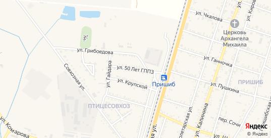 Улица 50 лет ГППЗ в Майском с номерами домов на карте. Спутник и схема онлайн