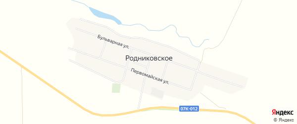 Карта Родниковского села в Ставропольском крае с улицами и номерами домов