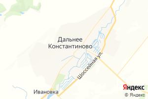 Карта пос. Дальнее Константиново Нижегородская область