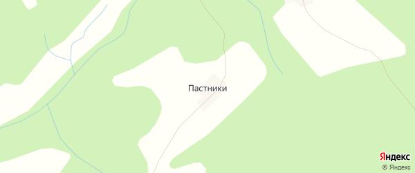 Карта деревни Пастники в Костромской области с улицами и номерами домов