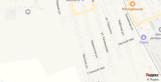 Терская улица в Тереке с номерами домов на карте. Спутник и схема онлайн