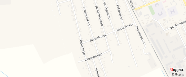 Урванская улица на карте Терека с номерами домов