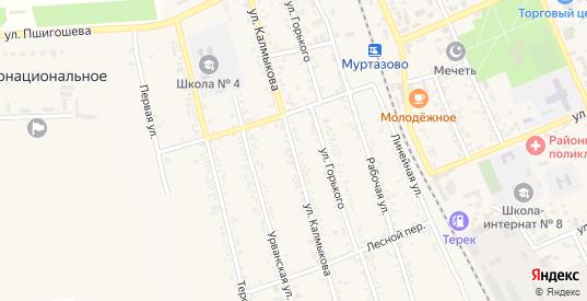 Улица Калмыкова в Тереке с номерами домов на карте. Спутник и схема онлайн