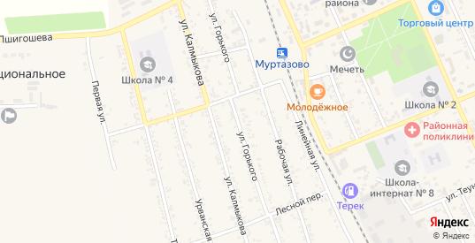 Улица М.Горького в Тереке с номерами домов на карте. Спутник и схема онлайн