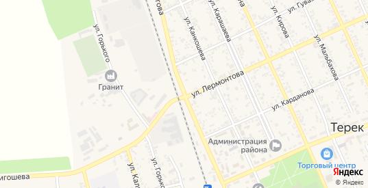 Улица Мамхегова в Тереке с номерами домов на карте. Спутник и схема онлайн