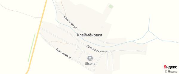 Карта села Клейменовка в Пензенской области с улицами и номерами домов