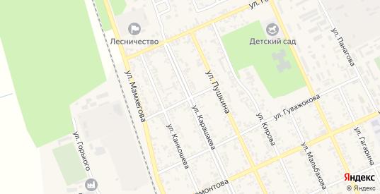 Улица Шауцукова в Тереке с номерами домов на карте. Спутник и схема онлайн
